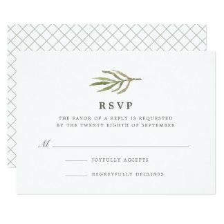 Greenery   Watercolor Botanical Wedding RSVP Card