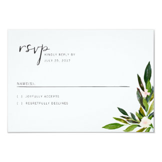 Greenery Wedding Invitation Set RSVP Card
