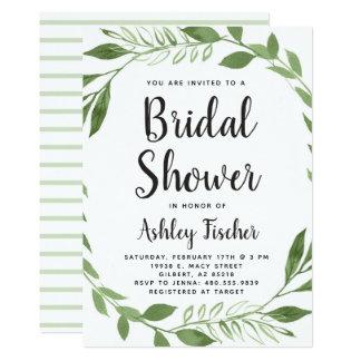 Greenery Wreath Bridal Shower Invitation