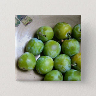 Greengages 2 Inch Square Button