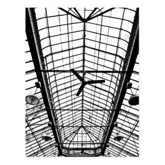 Greenhouse Ceiling in Black and White Postcard