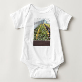 Greenhouse cultivation of Camellia japonica flower Baby Bodysuit