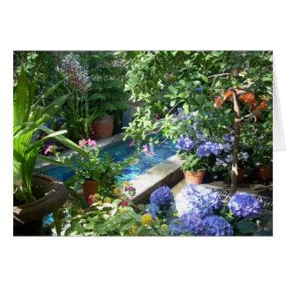 Greenhouse Flowers Three Card