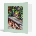 Greenhouse with Flowerpots 3 Ring Binder