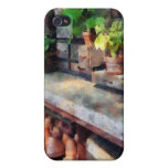 Greenhouse with Flowerpots iPhone 4/4S Cases