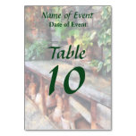 Greenhouse with Flowerpots Table Card