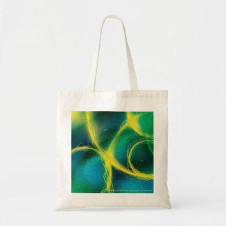 Greenish Abstract Budget Tote Bag