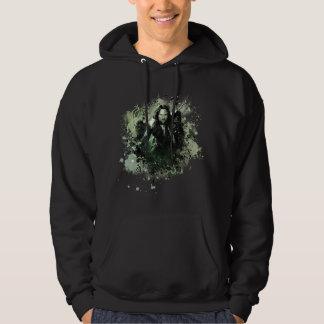 Greenish Aragorn Vector Collage Hoodie