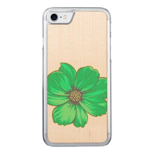 Greenish Artistic Flower Carved iPhone 7 Case