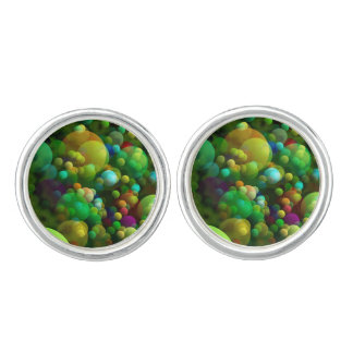 Greenish Bubbles Cufflinks