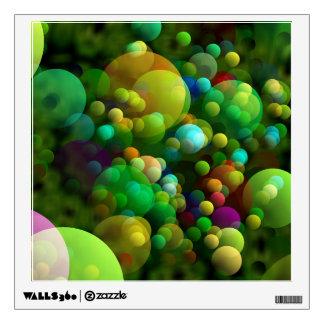 Greenish Bubbles Wall Sticker