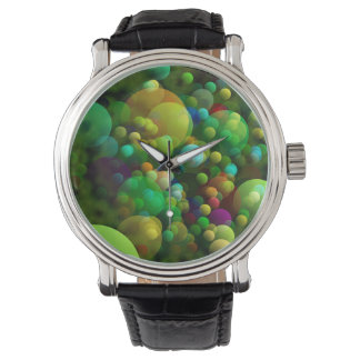 Greenish Bubbles Watch