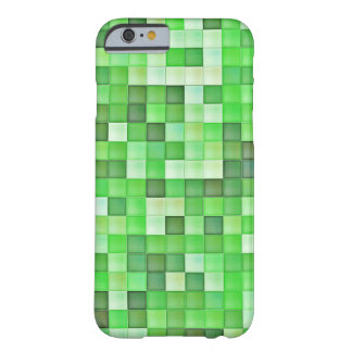 Greenish Mosaic Pattern Barely There iPhone 6 Case