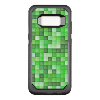 Greenish Mosaic Pattern OtterBox Commuter Samsung Galaxy S8 Case