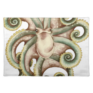 Greenish octopus placemat