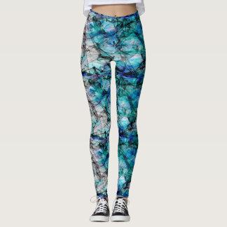 greenish shades abstract for leggings