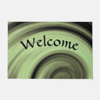 Greenish Swirl Welcome Doormat