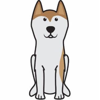 Greenland Dog Cartoon Photo Sculpture