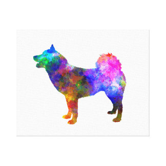 Greenland Dog in watercolor Canvas Print