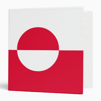 Greenland Flag 3 Ring Binder