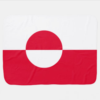 Greenland Flag Baby Blanket