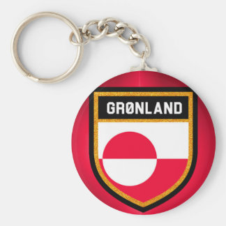 Greenland Flag Basic Round Button Keychain