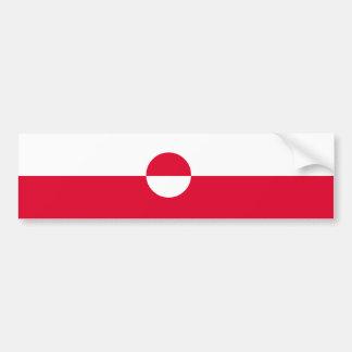 Greenland Flag Bumper Sticker