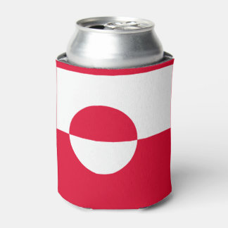 Greenland Flag Can Cooler