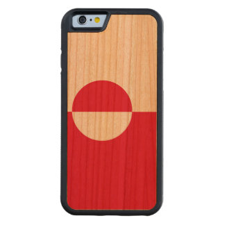 Greenland Flag Carved Cherry iPhone 6 Bumper Case