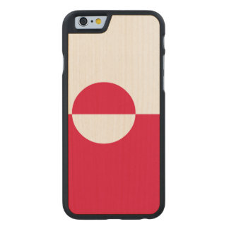 Greenland Flag Carved Maple iPhone 6 Case