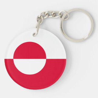 Greenland Flag Double-Sided Round Acrylic Keychain