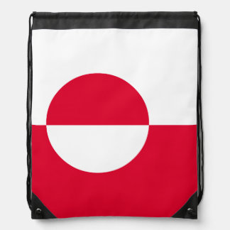 Greenland Flag Drawstring Bag
