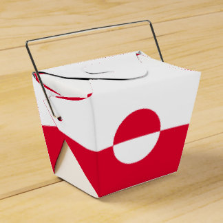 Greenland Flag Favor Box