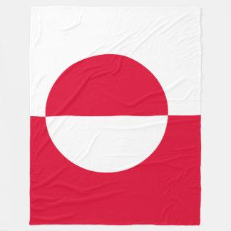 Greenland Flag Fleece Blanket
