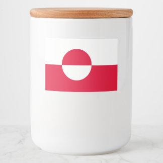 Greenland Flag Food Label
