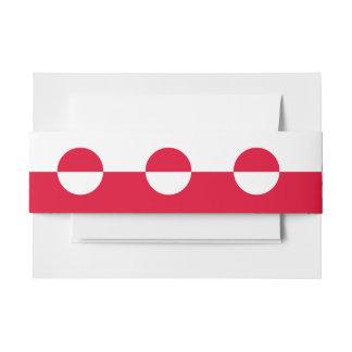 Greenland Flag Invitation Belly Band