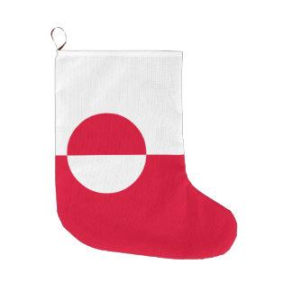 Greenland Flag Large Christmas Stocking