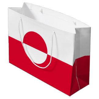 Greenland Flag Large Gift Bag