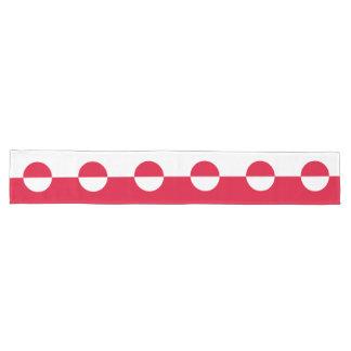Greenland Flag Long Table Runner