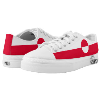 Greenland Flag Low-Top Sneakers