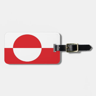 Greenland Flag Luggage Tag