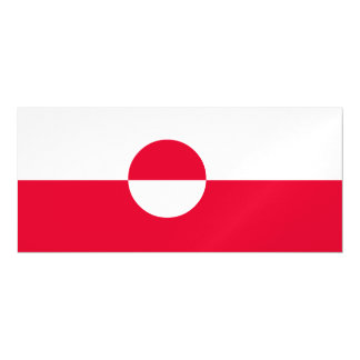Greenland Flag Magnetic Card