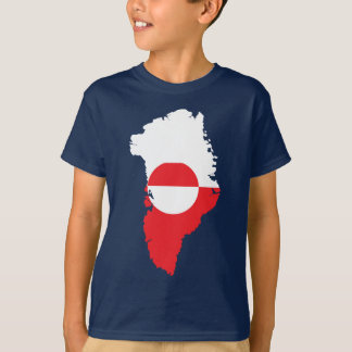 Greenland flag map T-Shirt