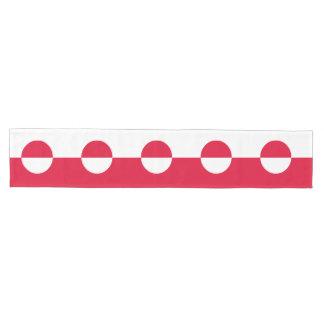 Greenland Flag Medium Table Runner