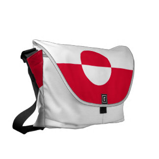 Greenland Flag Messenger Bags