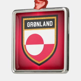 Greenland Flag Metal Ornament