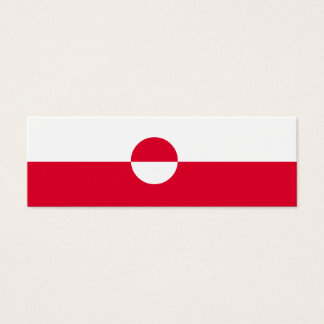Greenland Flag Mini Business Card