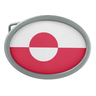 Greenland Flag Oval Belt Buckle