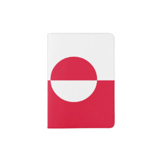 Greenland Flag Passport Holder