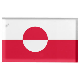 Greenland Flag Place Card Holder